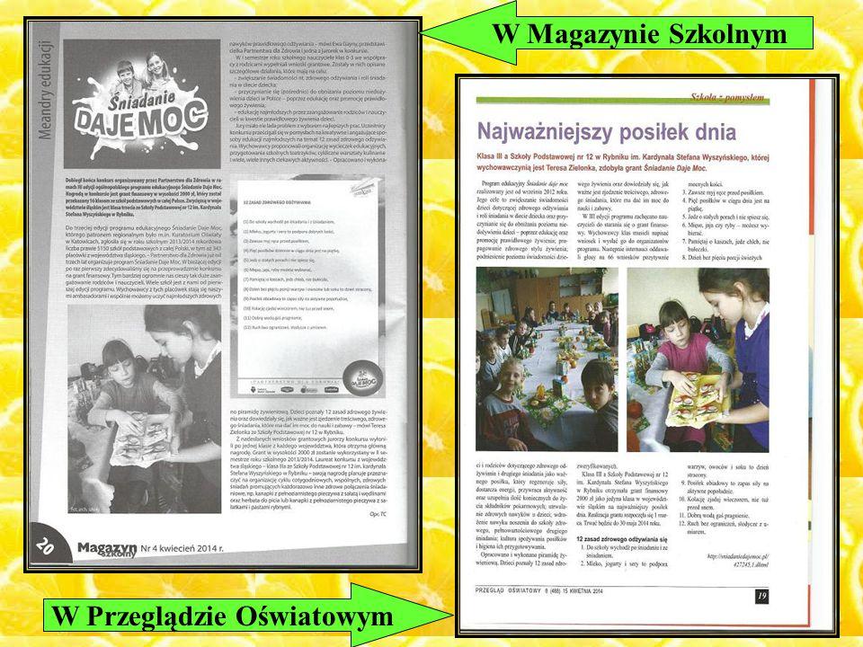 W Magazynie Szkolnym W Przeglądzie Oświatowym