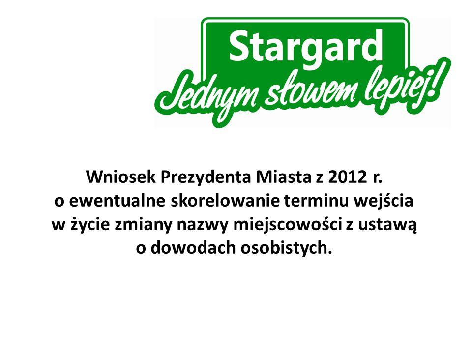 Wniosek Prezydenta Miasta z 2012 r.