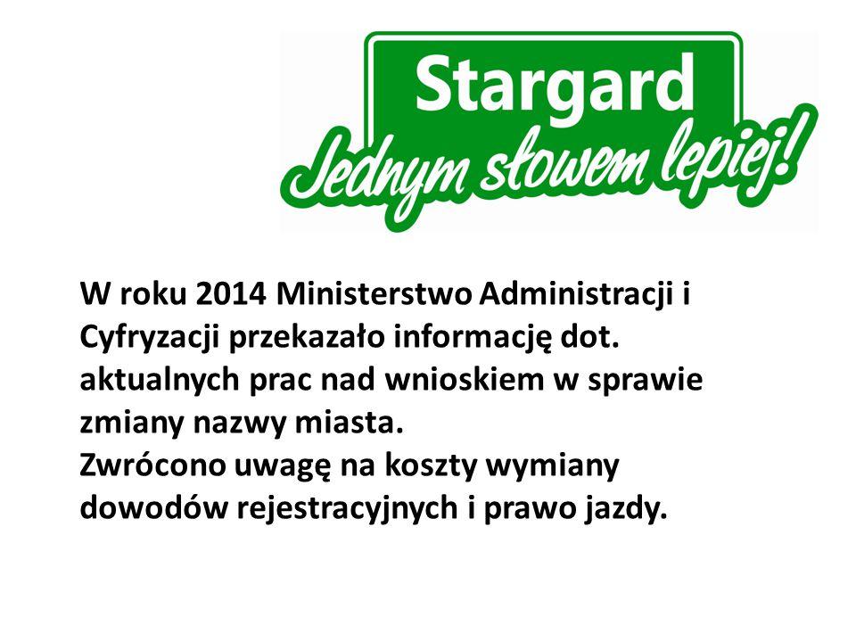 W roku 2014 Ministerstwo Administracji i Cyfryzacji przekazało informację dot.
