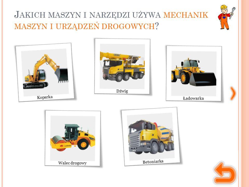 M ASZYNY, NARZĘDZIA, MATERIAŁY maszyna służąca do przygotowywania gruntu pod budowę drogi, wykopywania ziemi.