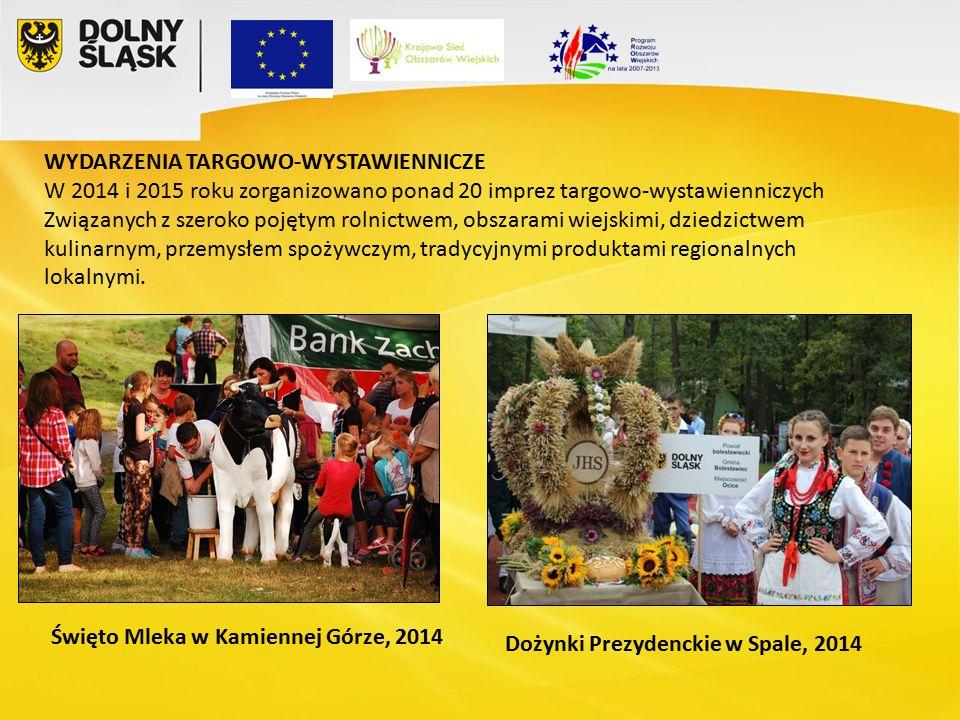 WYDARZENIA TARGOWO-WYSTAWIENNICZE W 2014 i 2015 roku zorganizowano ponad 20 imprez targowo-wystawienniczych Związanych z szeroko pojętym rolnictwem, obszarami wiejskimi, dziedzictwem kulinarnym, przemysłem spożywczym, tradycyjnymi produktami regionalnych lokalnymi.