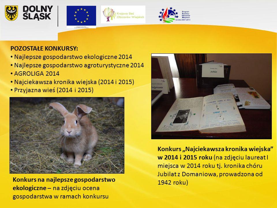 """Konkurs """"Najciekawsza kronika wiejska w 2014 i 2015 roku (na zdjęciu laureat I miejsca w 2014 roku tj."""