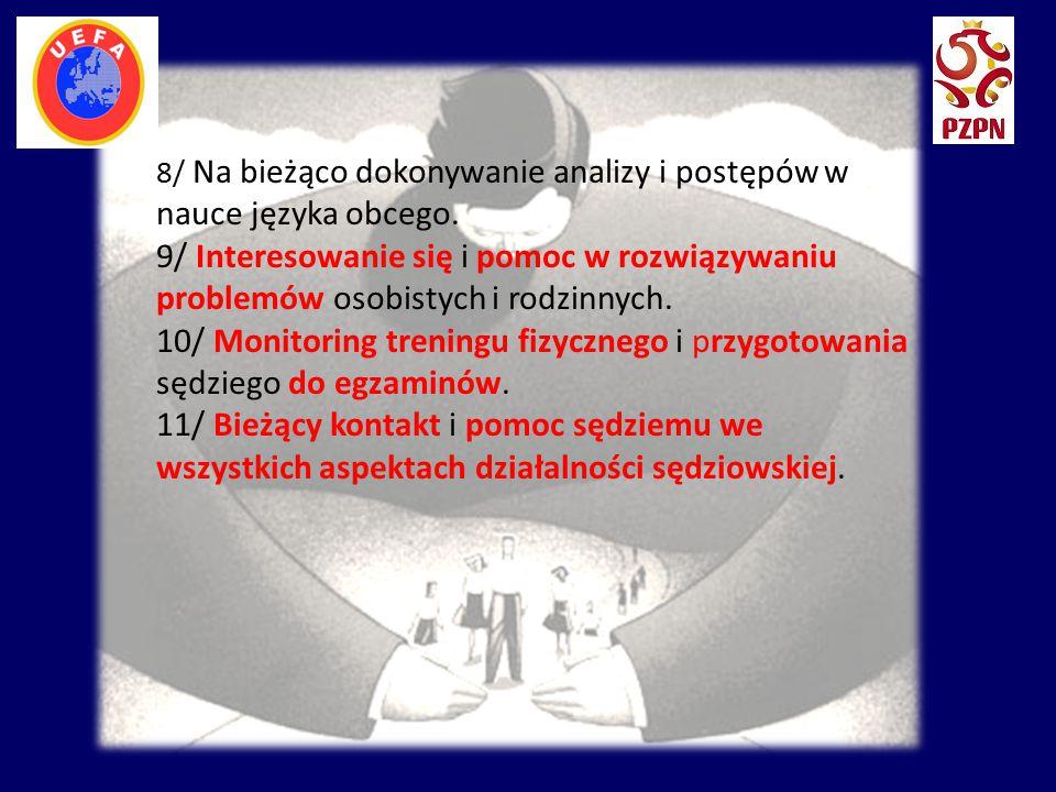 8/ Na bieżąco dokonywanie analizy i postępów w nauce języka obcego. 9/ Interesowanie się i pomoc w rozwiązywaniu problemów osobistych i rodzinnych. 10