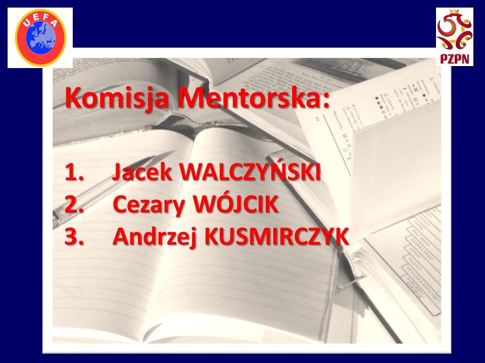 Komisja Mentorska: 1.Jacek WALCZYŃSKI 2.Cezary WÓJCIK 3.Andrzej KUSMIRCZYK