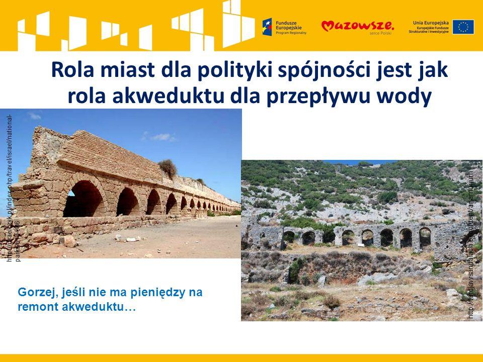 http://turcjawsandalach.pl/content/anamurium http://izraelczyk.pl/index.php/travel/israel/national- parks/813-886 Rola miast dla polityki spójności jest jak rola akweduktu dla przepływu wody Gorzej, jeśli nie ma pieniędzy na remont akweduktu…