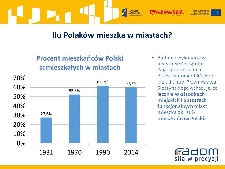 Ilu Polaków mieszka w miastach.