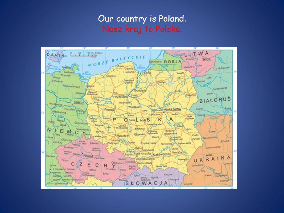 Polish flag is white end red. Flaga Polski jest biało-czerwona.