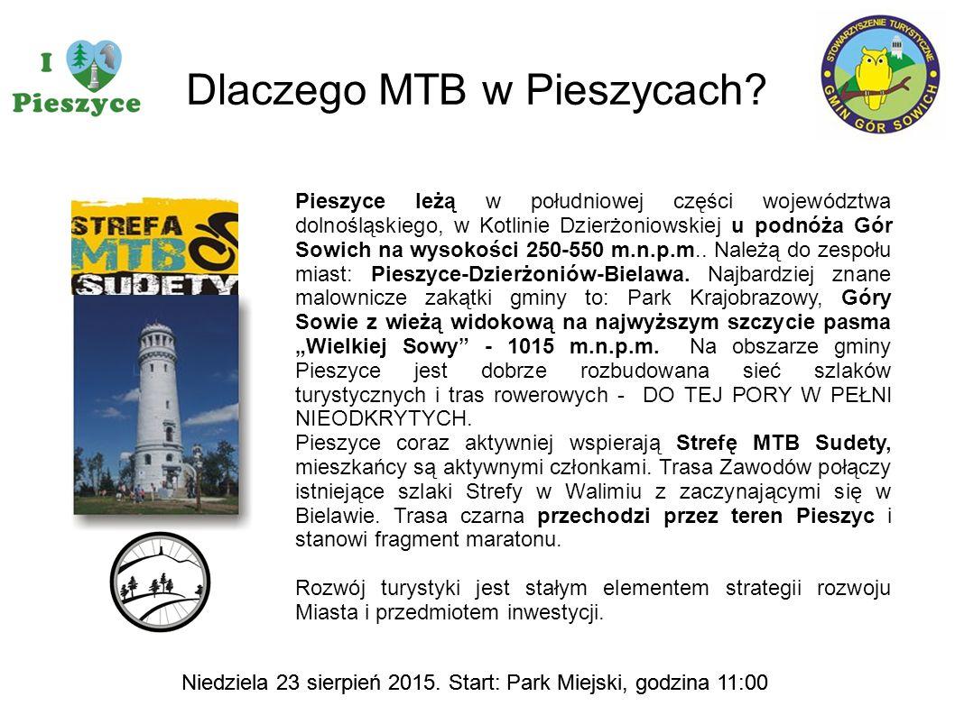 Dlaczego MTB w Pieszycach? Pieszyce leżą w południowej części województwa dolnośląskiego, w Kotlinie Dzierżoniowskiej u podnóża Gór Sowich na wysokośc