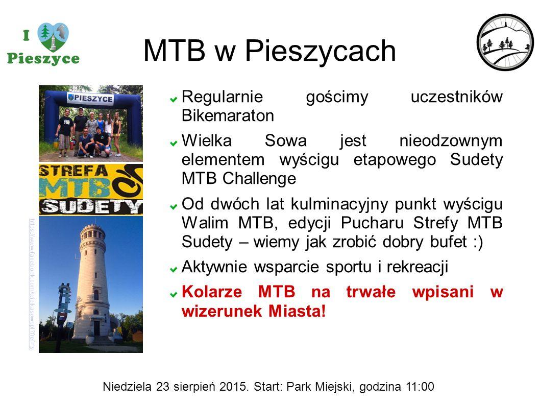 MTB w Pieszycach https://www.facebook.com/wielkasowapl?fref=ts Regularnie gościmy uczestników Bikemaraton Wielka Sowa jest nieodzownym elementem wyści