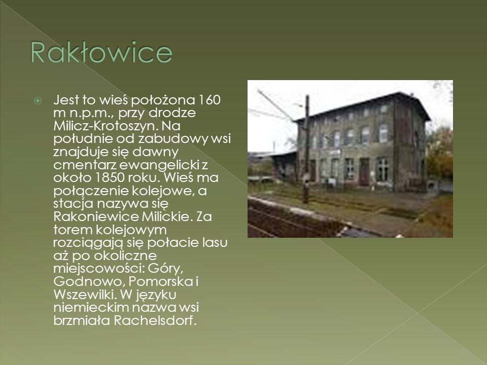  Jest to wieś położona 160 m n.p.m., przy drodze Milicz-Krotoszyn. Na południe od zabudowy wsi znajduje się dawny cmentarz ewangelicki z około 1850 r