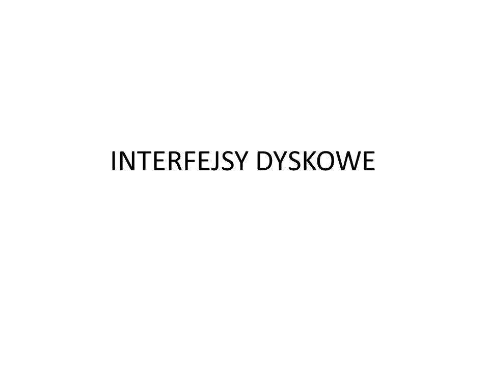 1.ATA (IDE) – interfejs równoległy.