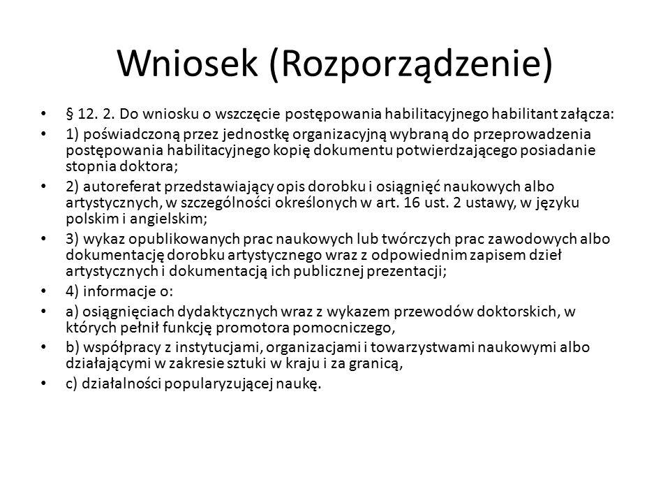 Wniosek (Rozporządzenie) § 12. 2.