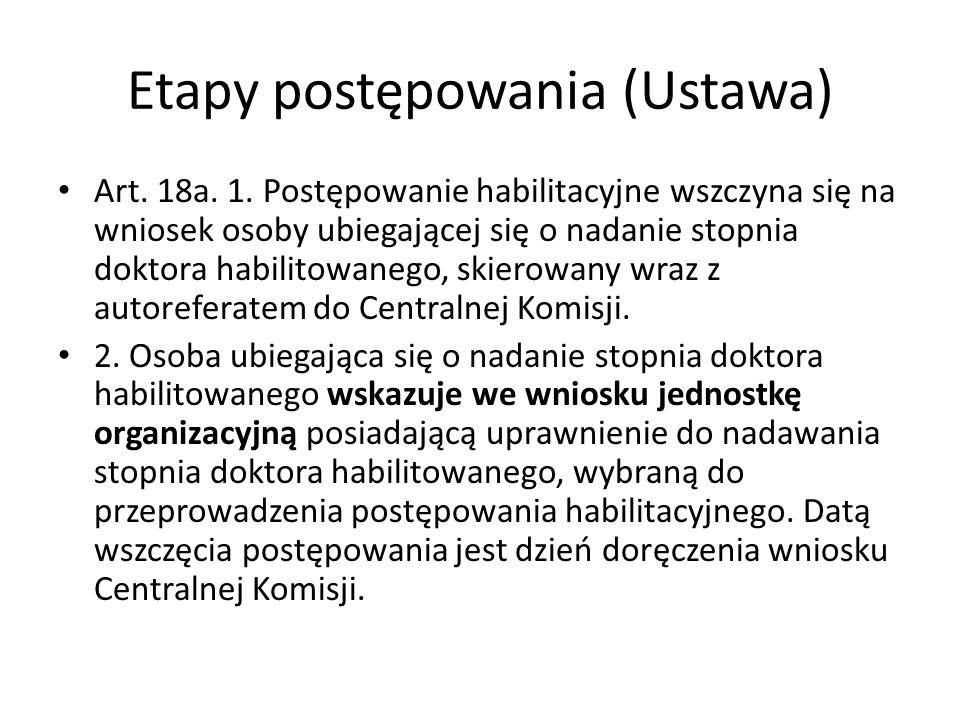 Etapy postępowania (Ustawa) Art. 18a. 1.