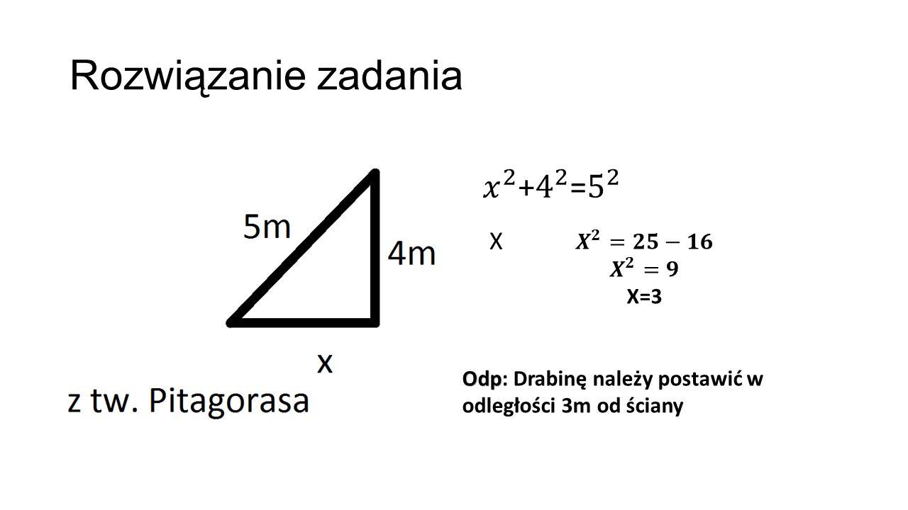 Rozwiązanie zadania X
