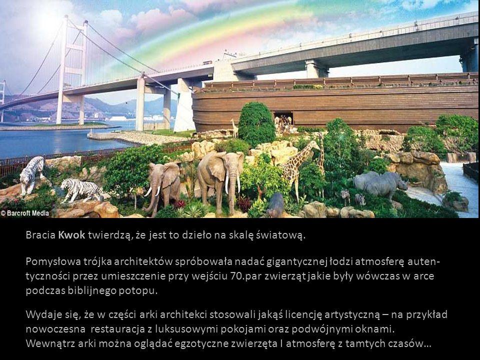Utrzymanie Arki Noego jest sponsorowane przez organizacje chrześcijanskie dla propagowania oraz utrzymania pokoju I jedności na świecie.