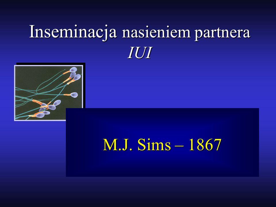 Inseminacja nasieniem partnera IUI M.J. Sims – 1867