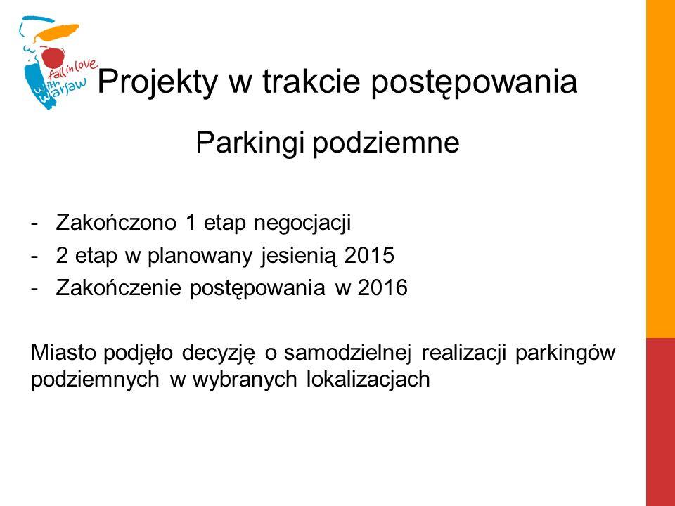 Projekty w trakcie analiz doradcy Nowa siedziba Urzędu Dzielnicy Mokotów Częściowa wymiana oświetlenia ulicznego na ulicach m.st.