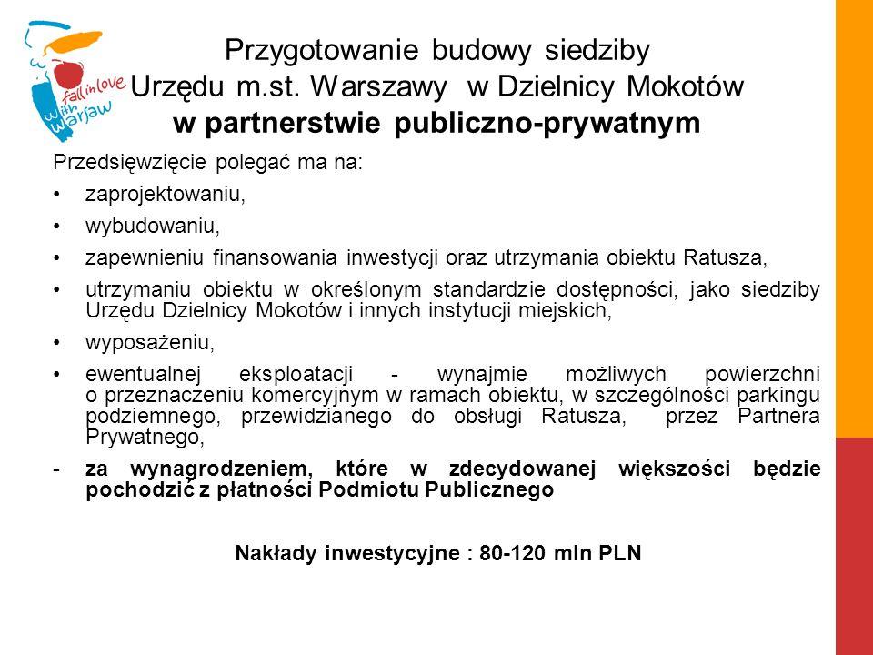 Nowy Ratusz dla Mokotowa: - ma zapewnić wygodną obsługę administracyjną najludniejszej dzielnicy Warszawy w jednej lokalizacji - pomieści administrację z zajmowanych dotychczas 11 lokalizacji ok.