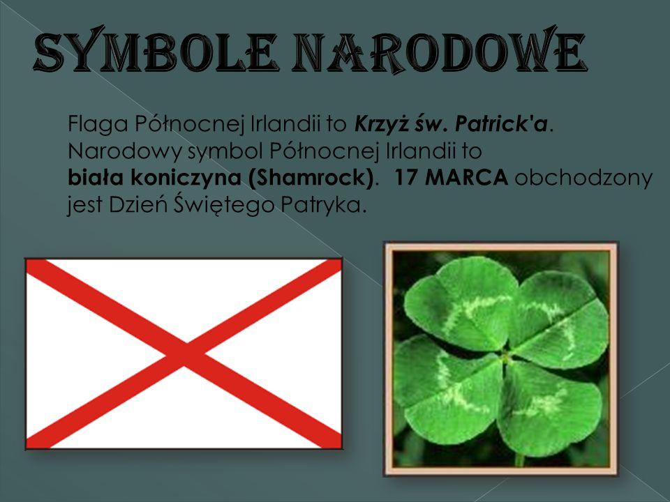 Flaga Północnej Irlandii to Krzyż św.Patrick a.