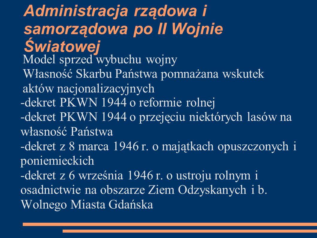 Warszawa – dekret z 26 października 1946 r.o własności i użytkowaniu gruntów na ternetnie m.st.