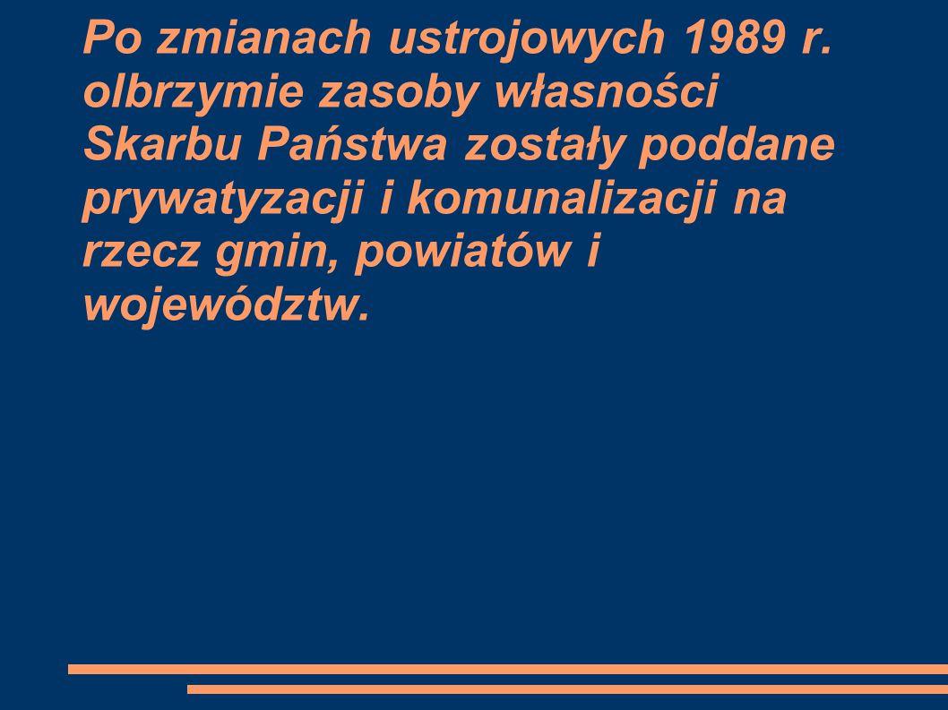 Po zmianach ustrojowych 1989 r.
