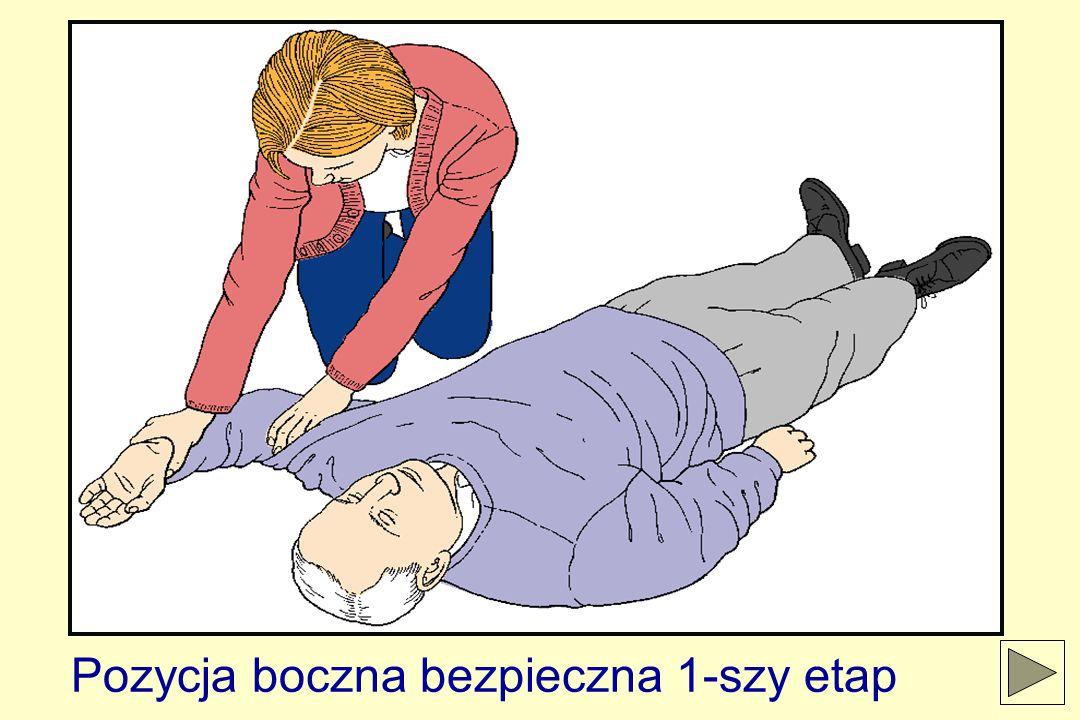 Stosunek uciśnięć na mostek / sztuczne oddechy 30 uciśnięć : 2 oddechy Wykonaj nie więcej niż 2 próby wentylacji za każdym razem, zanim podejmiesz ponownie uciskanie klatki piersiowej.