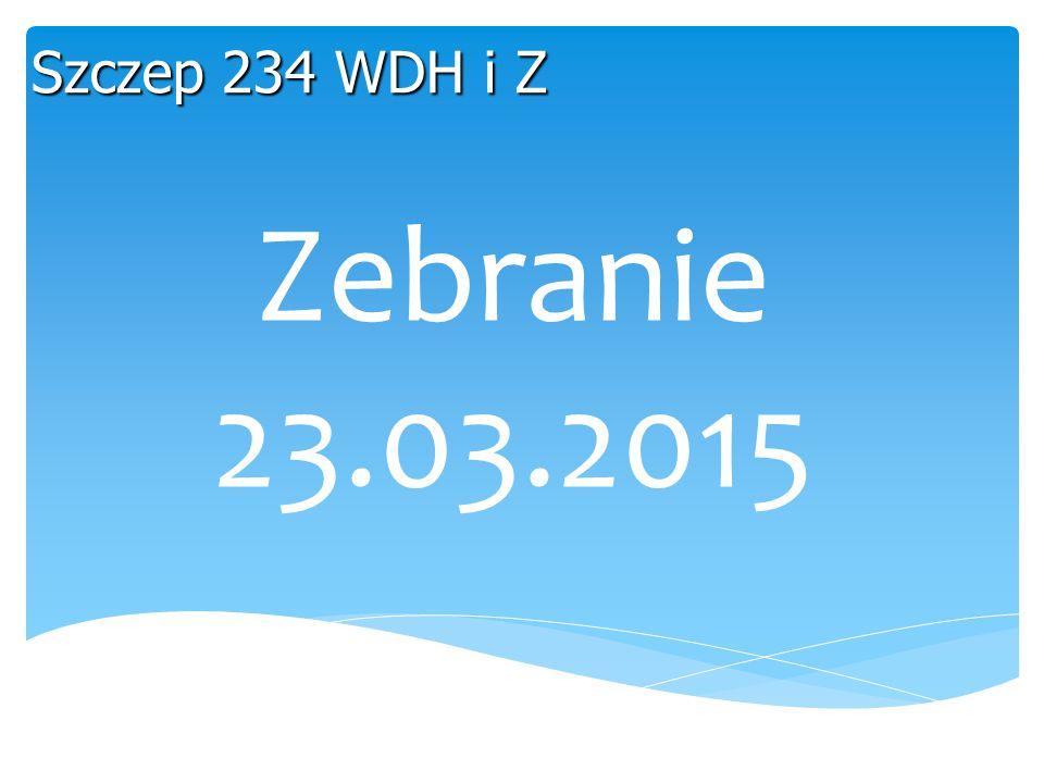 Zebranie 23.03.2015 Szczep 234 WDH i Z