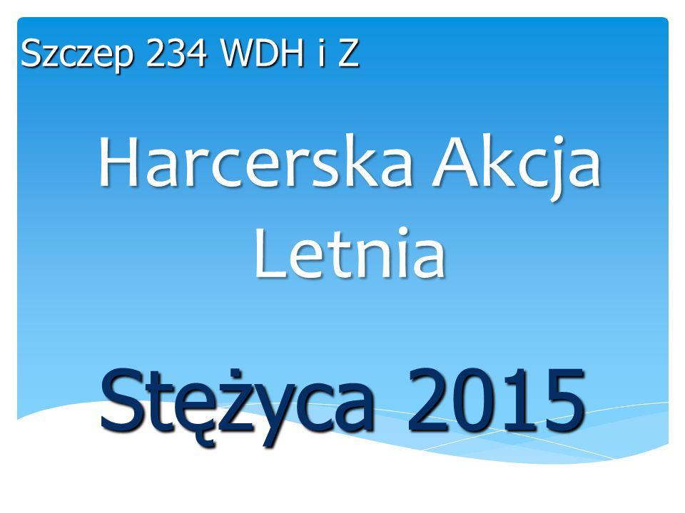 Harcerska Akcja Letnia Stężyca 2015 Szczep 234 WDH i Z