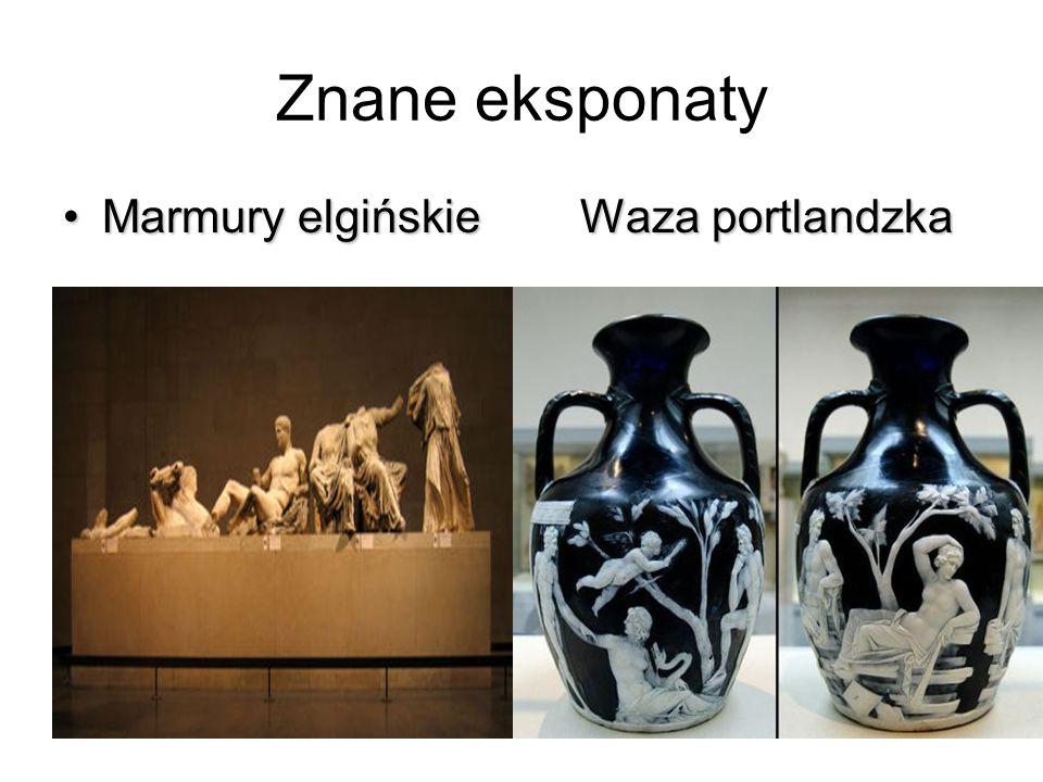 Znane eksponaty Marmury elgińskieWaza portlandzkaMarmury elgińskie Waza portlandzka