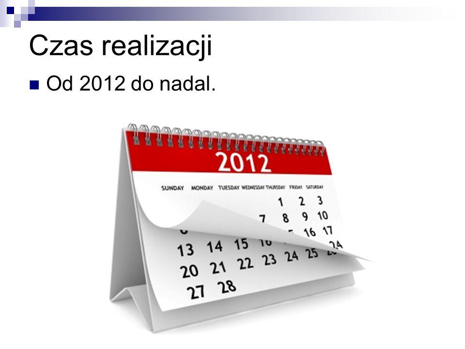 Czas realizacji Od 2012 do nadal.