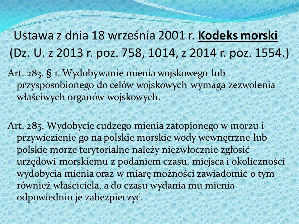 Ustawa z dnia 18 września 2001 r.Kodeks morski (Dz.