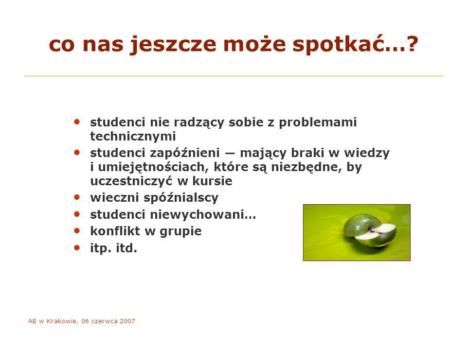 AE w Krakowie, 06 czerwca 2007 co nas jeszcze może spotkać….
