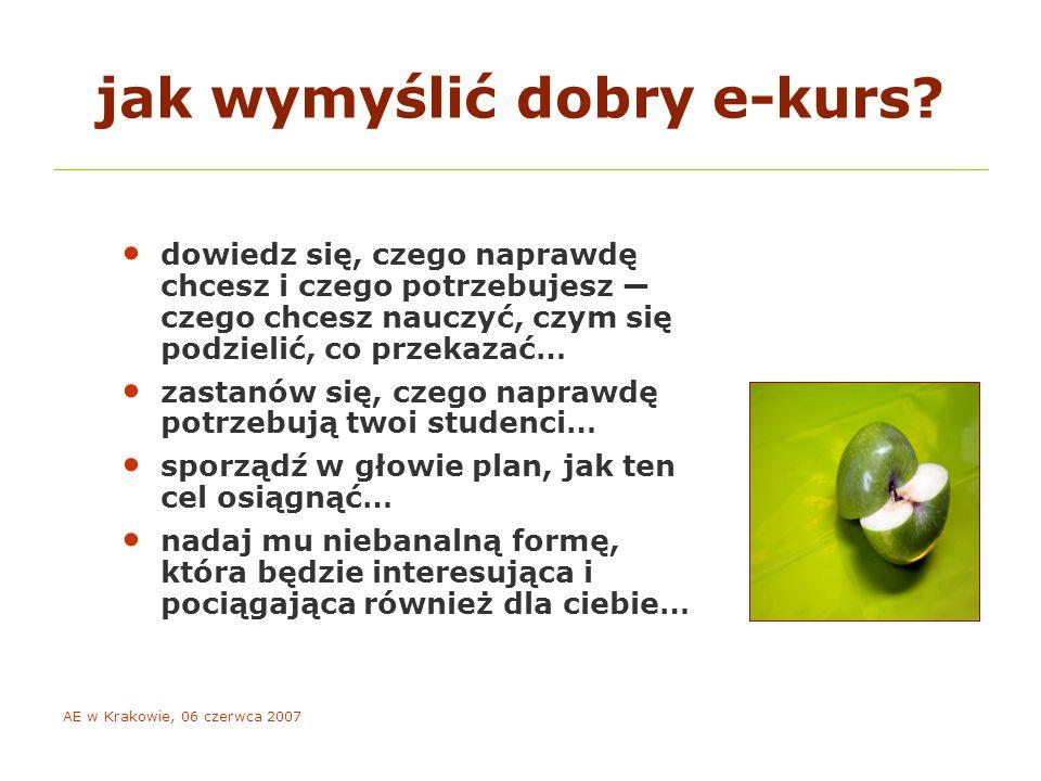 AE w Krakowie, 06 czerwca 2007 co wpływa na motywację e-studentów.
