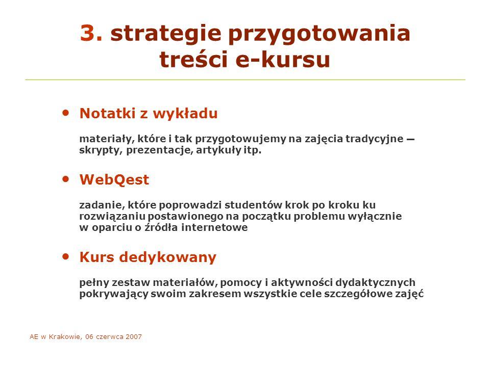 AE w Krakowie, 06 czerwca 2007 co motywuje e-studentów.