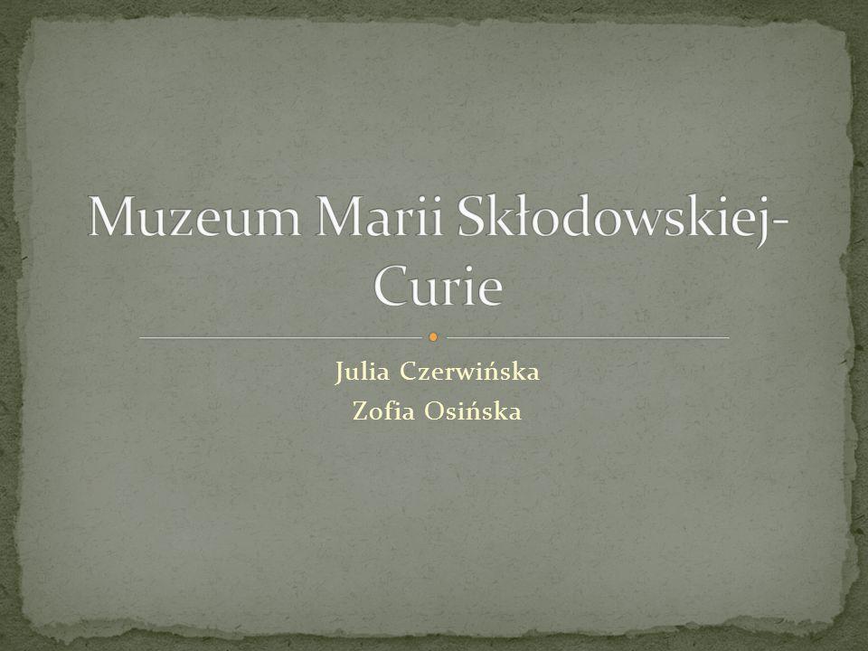 Julia Czerwińska Zofia Osińska