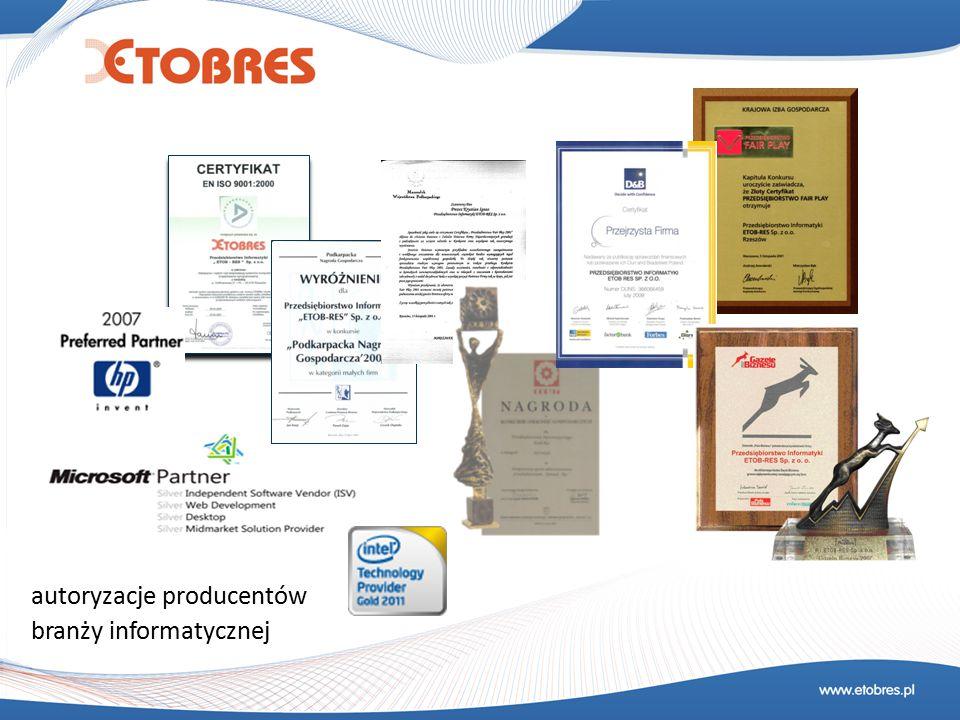 autoryzacje producentów branży informatycznej