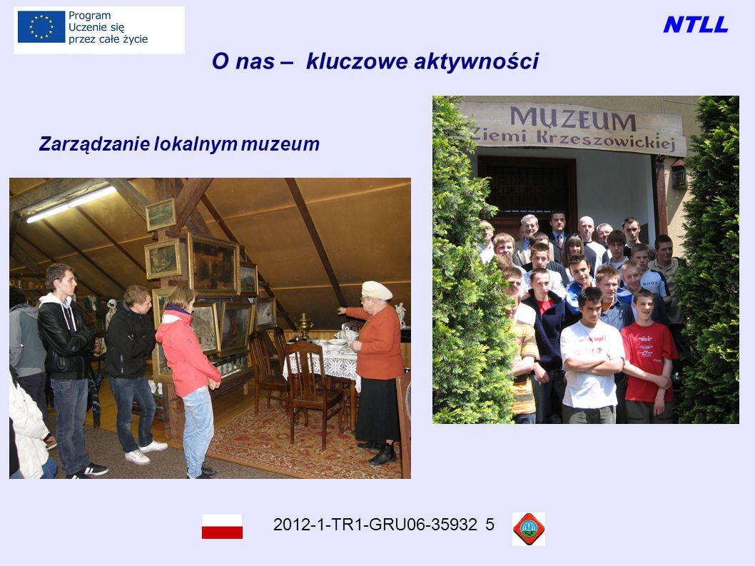 NTLL 2012-1-TR1-GRU06-35932 5 O nas – kluczowe aktywności Zarządzanie lokalnym muzeum