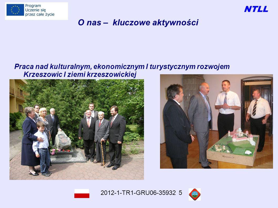 NTLL 2012-1-TR1-GRU06-35932 5 O nas – kluczowe aktywności Praca nad kulturalnym, ekonomicznym I turystycznym rozwojem Krzeszowic I ziemi krzeszowickiej