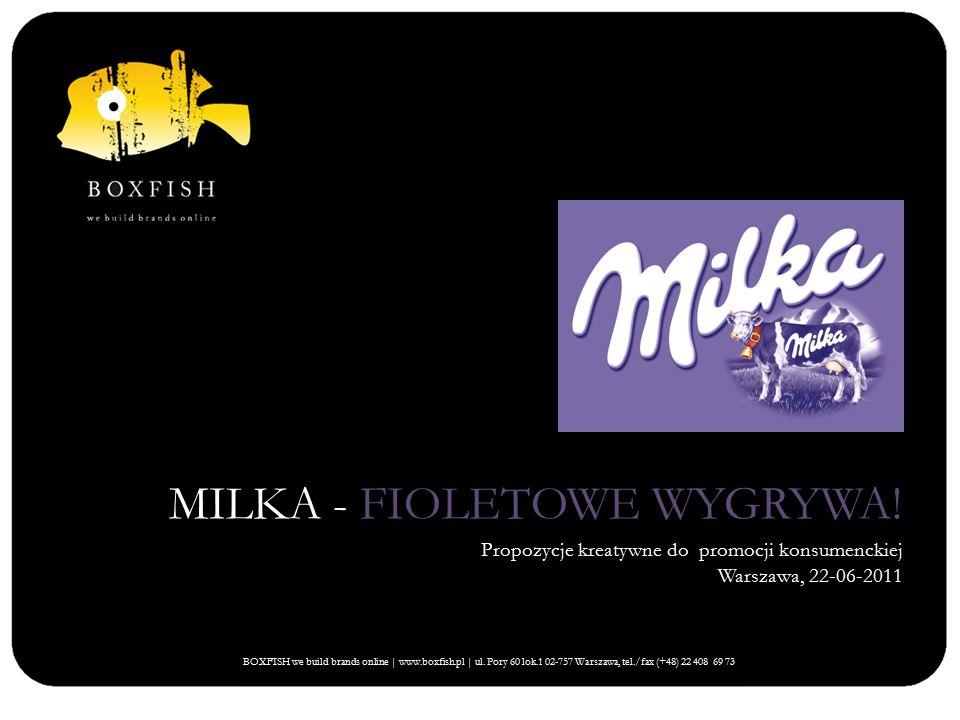 MILKA - FIOLETOWE WYGRYWA.