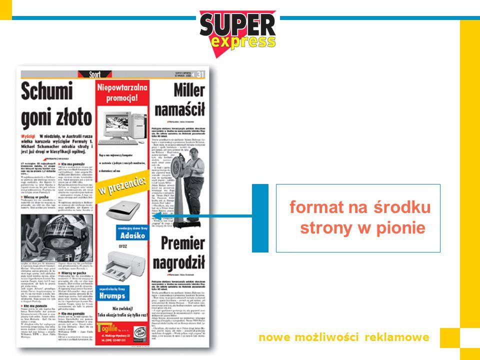 format na środku strony w pionie nowe możliwości reklamowe
