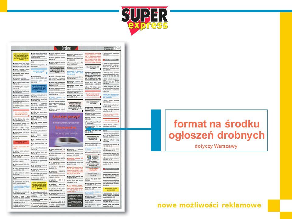 format na środku ogłoszeń drobnych nowe możliwości reklamowe dotyczy Warszawy