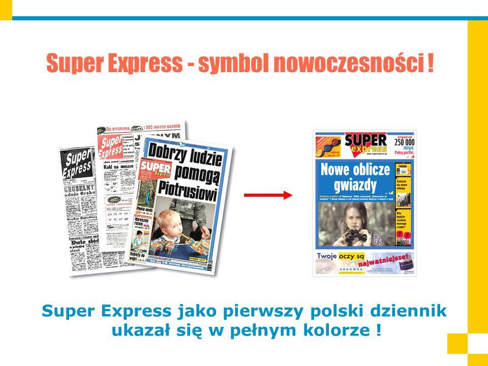 Super Express jako pierwszy polski dziennik ukazał się w pełnym kolorze .