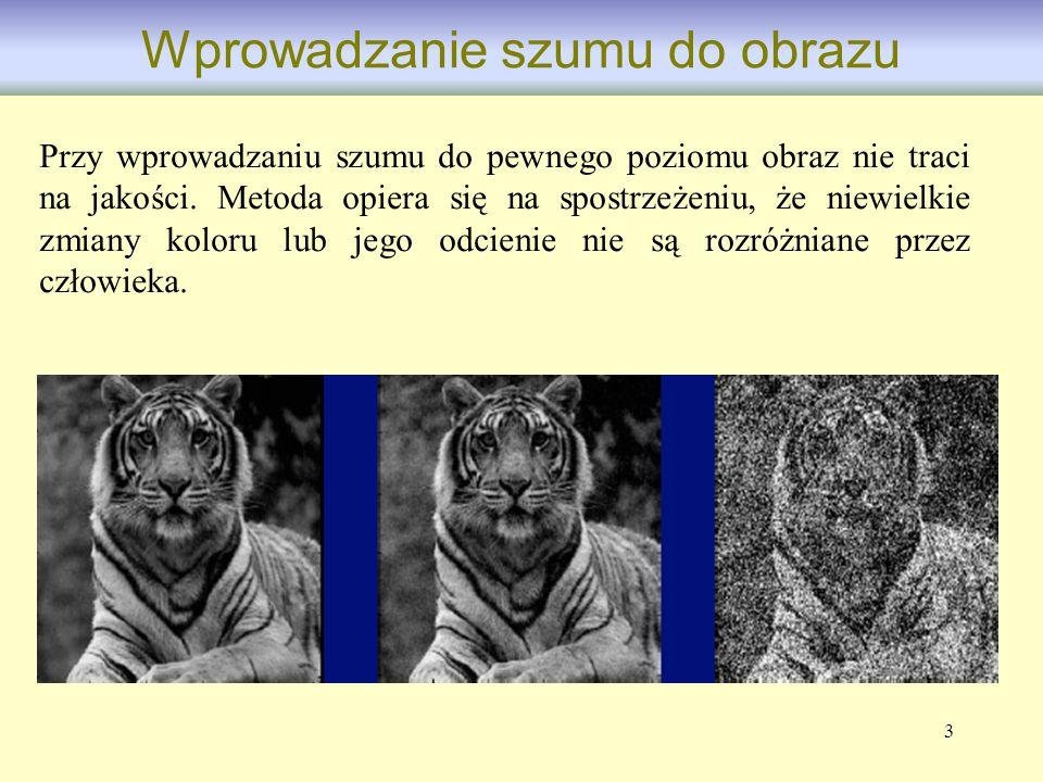 4 Obraz ukrywany Obraz nośnik Obraz widoczny dla odbiorcy Steganografia