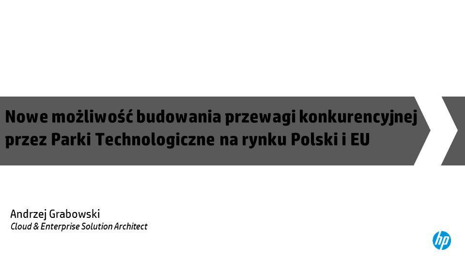 Nowe możliwość budowania przewagi konkurencyjnej przez Parki Technologiczne na rynku Polski i EU Andrzej Grabowski Cloud & Enterprise Solution Architect