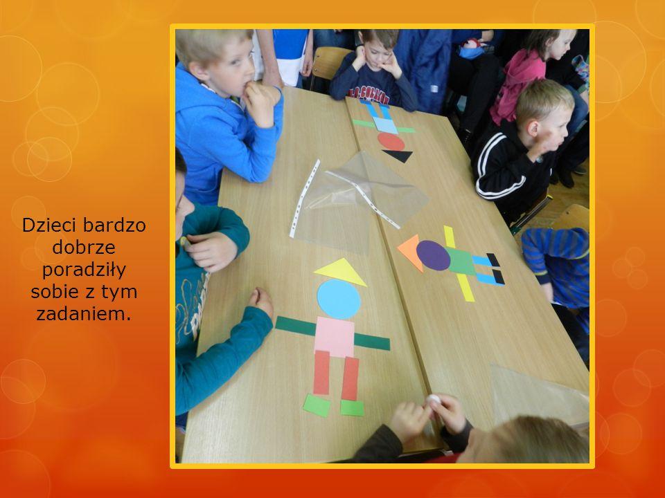 Dzieci bardzo dobrze poradziły sobie z tym zadaniem.