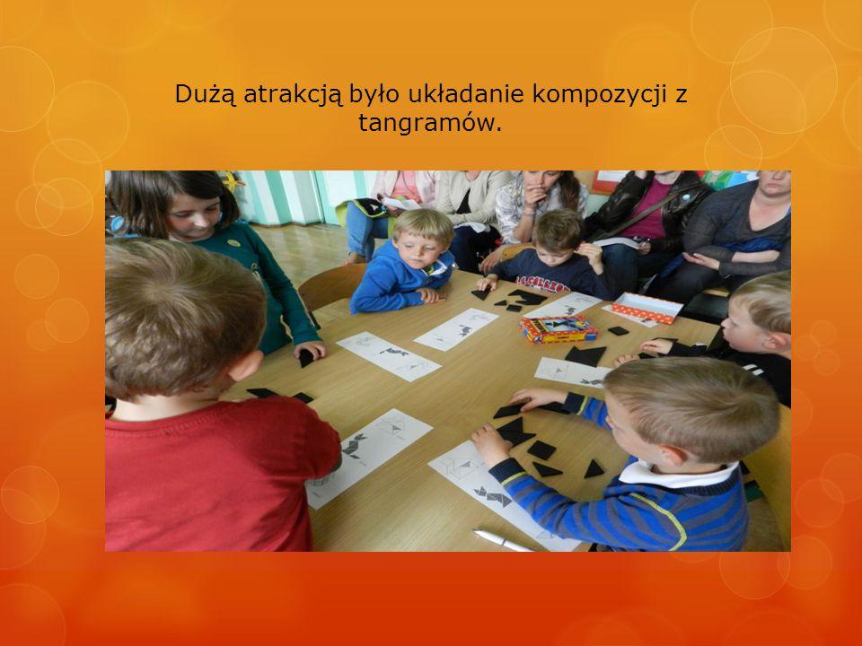 Dużą atrakcją było układanie kompozycji z tangramów.