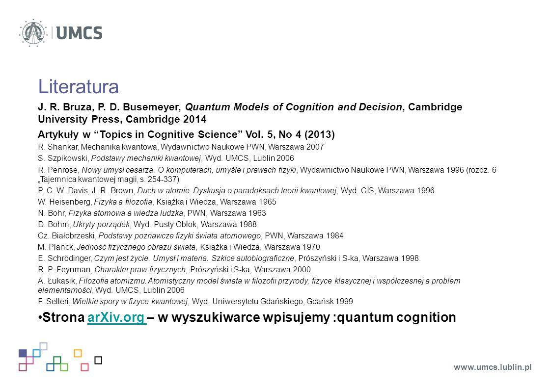 Pomiar kognitywny Pomiar kognitywny (np.