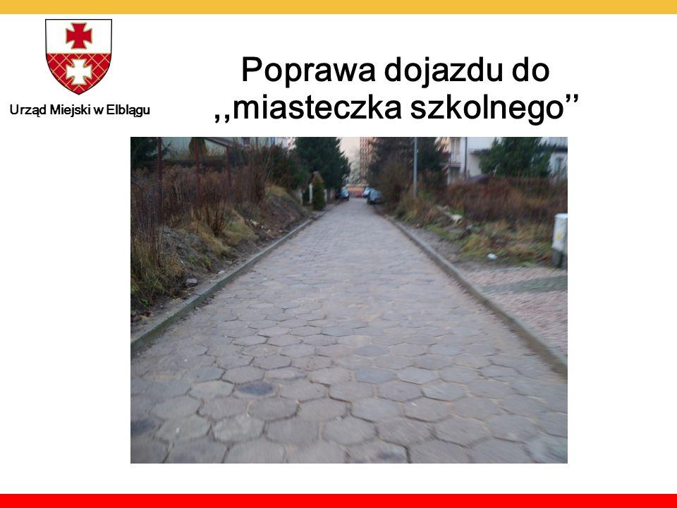 Urząd Miejski w Elblągu Pas dla rowerów Wspólna/Kościuszki