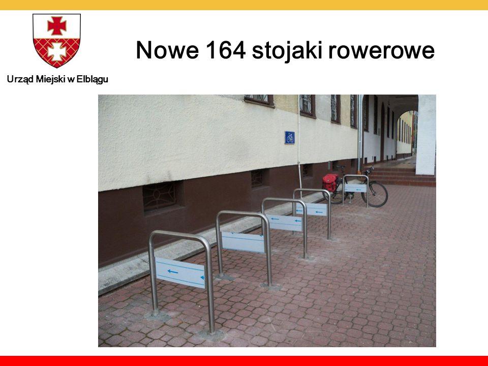 Urząd Miejski w Elblągu Łącznie w Elblągu jest już ponad 800 miejsc parkingowych Miejsca parkingowe dla rowerów 2011 2012 2013 13 stojaków - tzw.