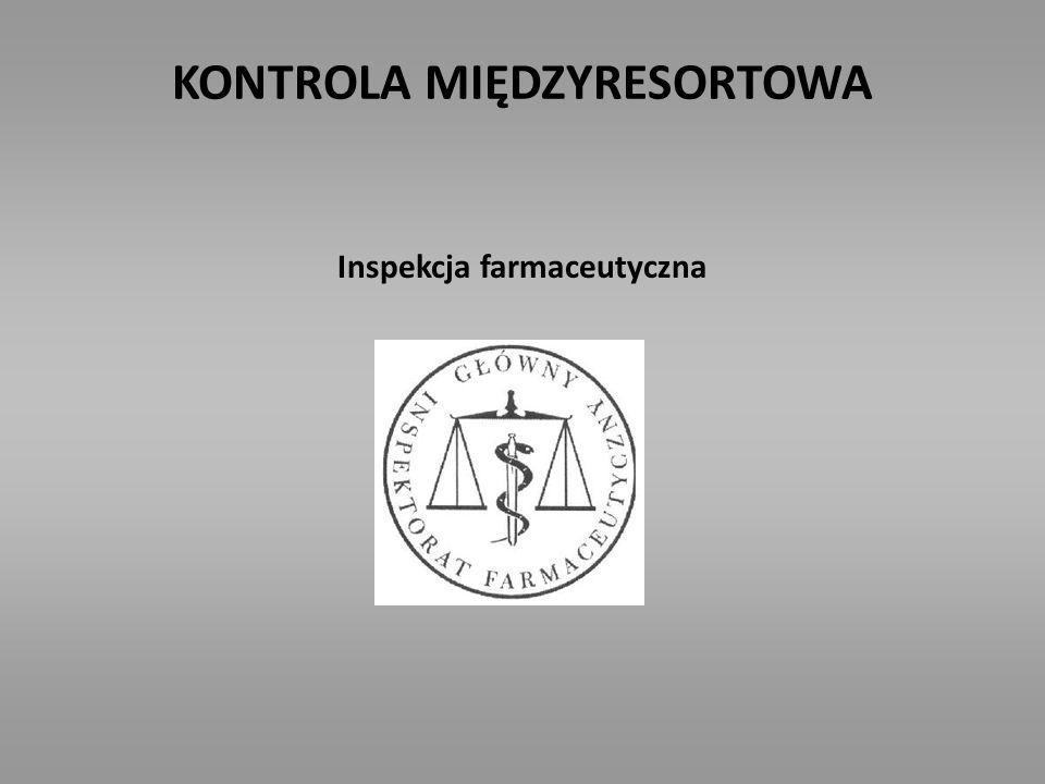 KONTROLA MIĘDZYRESORTOWA Inspekcja farmaceutyczna